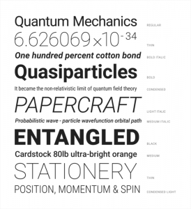 Font Roboto pada Material Design